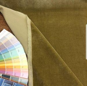 High end velvet upholstery fabric 2.2 Yards green